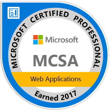 MCSA Web Applications